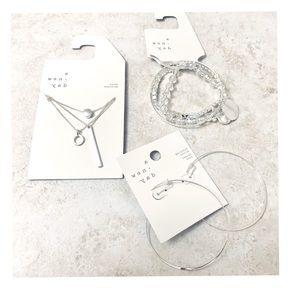 Silver Fashion Jewelry 3 Piece Set
